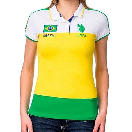 Polo U.S. Polo Assn. Feminina Brazil Edition - Yellow