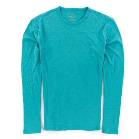 Camiseta Calvin Klein Masculina Basic Long Sleeve Tee - Acqua