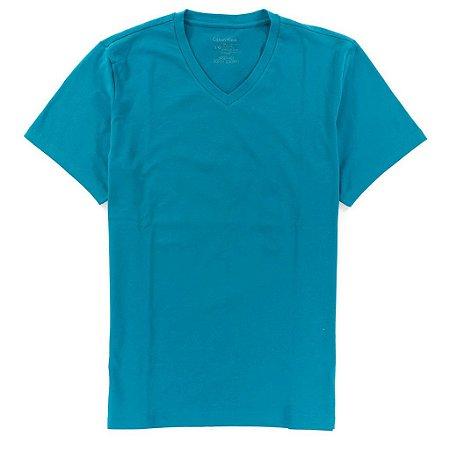 Camiseta Calvin Klein Masculina Basic V-Neck Tee - Acqua