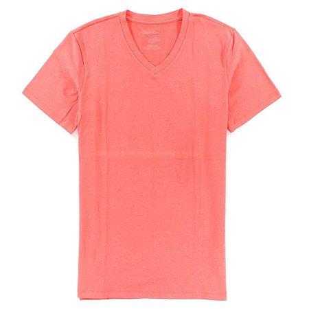 Camiseta Calvin Klein Masculina Basic V-Neck Tee - Pink