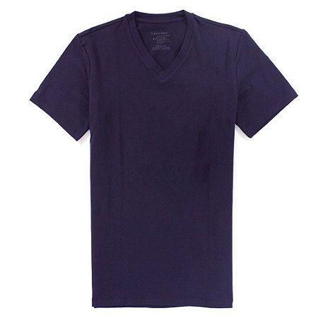 Camiseta Calvin Klein Masculina Basic V-Neck Tee - Wine