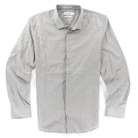 Camisa Calvin Klein Masculina Body Fit Shirt - Grey