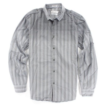 Camisa Calvin Klein Masculina Body Fit Striped Shirt - Grey