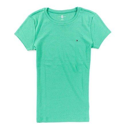 Camiseta Tommy Hilfiger Feminina Short Sleeve Crew Neck Tee - Green