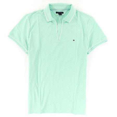 Polo Tommy Hilfiger Feminina Small Logo - Light Green