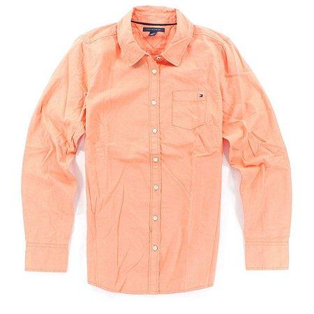 Camisa Tommy Hilfiger Feminina Solid - Orange