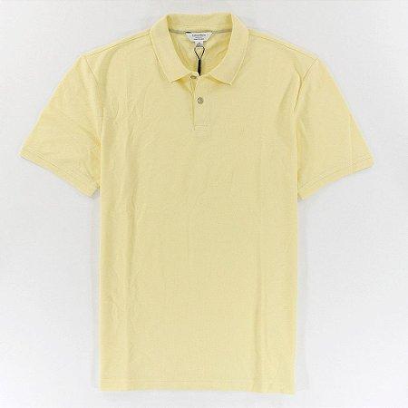 Polo Calvin Klein Masculina CK Piquet Polo - Light Yellow