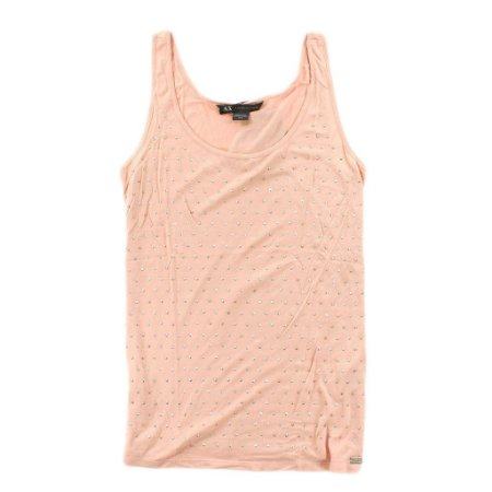 Blusinha Armani Exchange Feminina Dots Tank - Pink Cloud