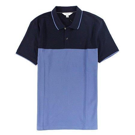 Polo Calvin Klein Masculina Colorblock  Polo - Double Blue