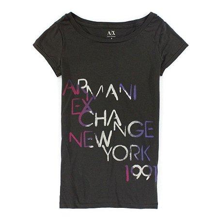 Camiseta Armani Exchange Feminina New York Tee - Grey