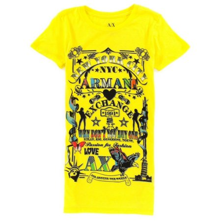 Camiseta Armani Exchange Feminina Passion for Fashion Tee - Yellow