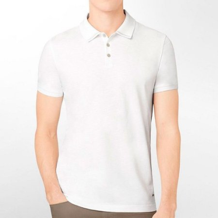 Polo Calvin Klein Masculina Extreme Slim Fit Polo - White