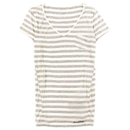 Camiseta Armani Exchange Feminina Pocket Striped Tee - White
