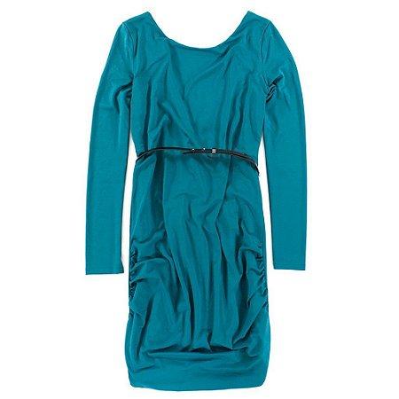 Vestido Armani Exchange Feminina Scoopneck Belt-In Dress - Ocean Teal