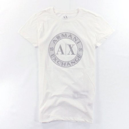 Camiseta Armani Exchange Feminina Shiny Circle Tee - White