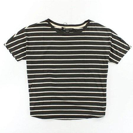 Camiseta Armani Exchange Feminina Striped Tee - Neutral