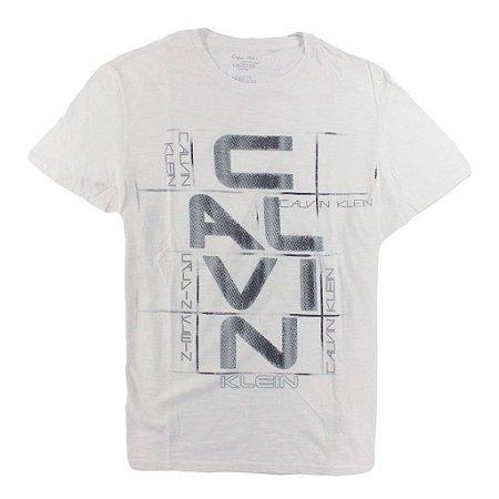 Camiseta Calvin Klein Masculina Slub Graphic Tee - White