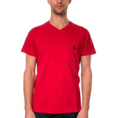 Camiseta U.S. Polo Assn. Masculina V Neck - Red
