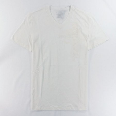 Camiseta Calvin Klein Masculina Vertical Graphic V Neck Tee - White