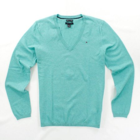 Sweater Tommy Hilfiger Feminina Solid - Acqua