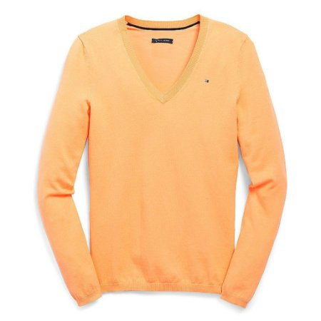 Sweater Tommy Hilfiger Feminina Solid - Orange