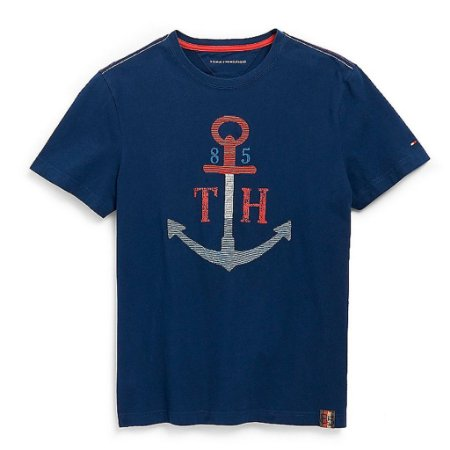 Camiseta Tommy Hilfiger Masculina Anchor Graphic Tee - Navy