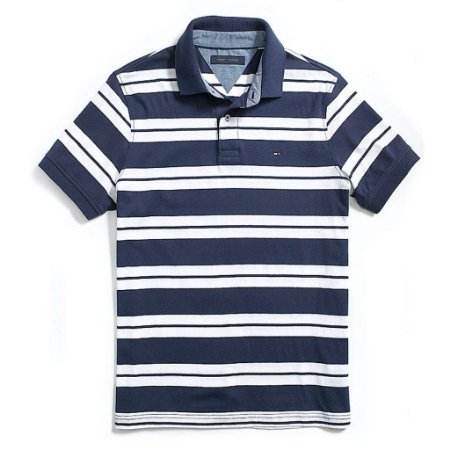 Polo Tommy Hilfiger Masculina Custom Fit Jersey - Navy
