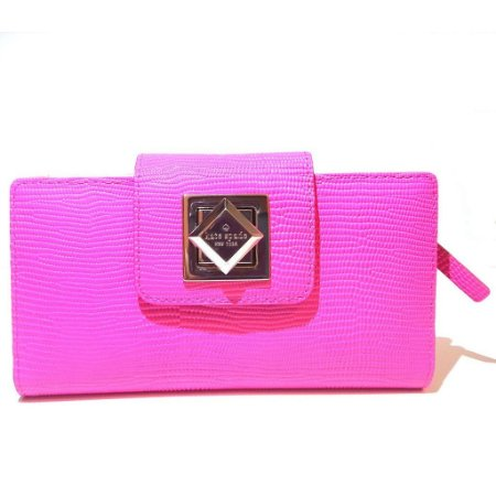 Carteira Kate Spade Turnlock Stacy Marble Hill Wallet - Bazooka Pink