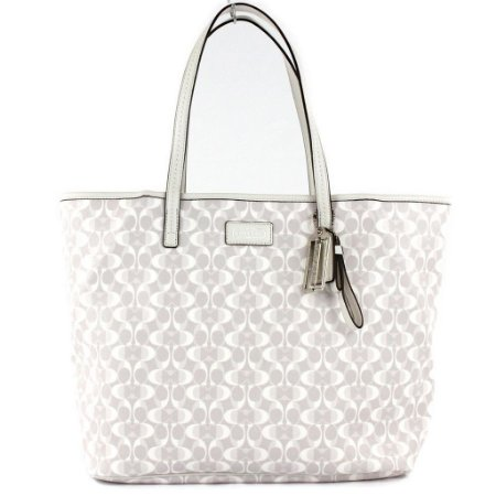 Bolsa Coach Parker Dream Tote Bag - Dove and White