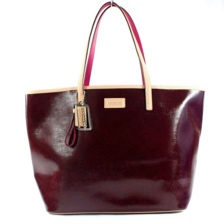 Bolsa Coach Parker Metro Leather Tote Bag - Burgundy