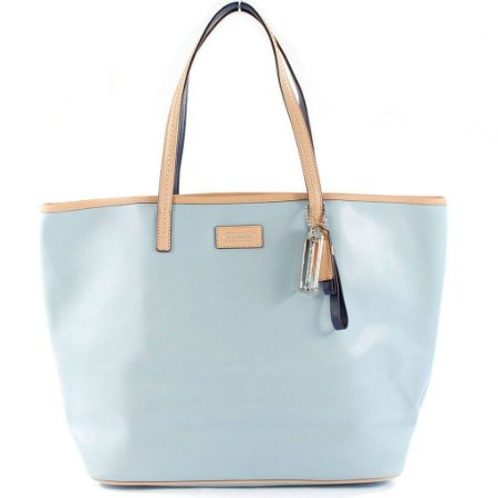 Bolsa Coach Parker Metro Leather Tote Bag - Sky