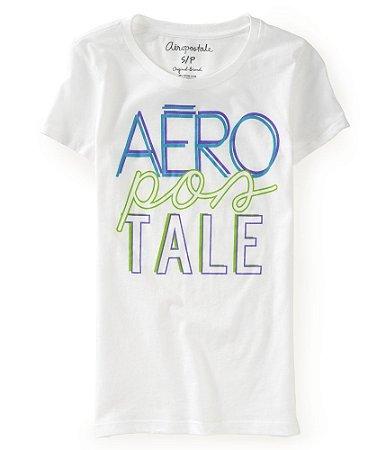 Camiseta Aéropostale Feminina Graphic T - Bleach