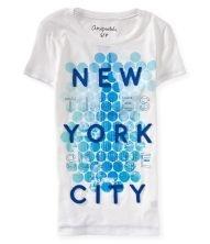 Camiseta Aéropostale Feminina TSQ Brooklyn Bridge Graphic - Bleach