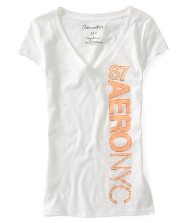 Camiseta Aéropostale Feminina Vertical NYC 87 - Bleach