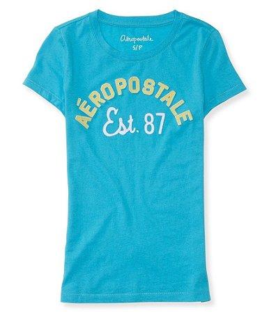 Camiseta Aéropostale Feminina Arch Est.87 - Curaçao