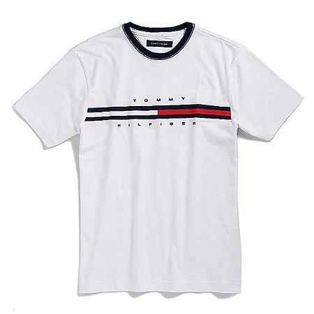 Camiseta Tommy Hilfiger Masculina Hilfiger Logo - White