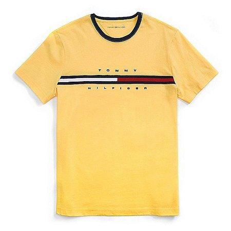 Camiseta Tommy Hilfiger Masculina Hilfiger Logo - Yellow