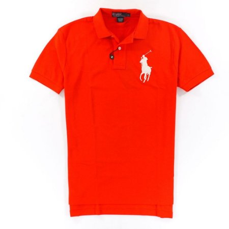 Polo Ralph Lauren Masculina Classic Fit Big Pony Piquet Polo - Orange