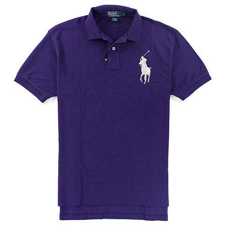 Polo Ralph Lauren Masculina Classic Fit Big Pony Piquet Polo - Purple