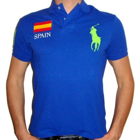 Polo Ralph Lauren Masculina Countries Custom Piquet Polo - Blue