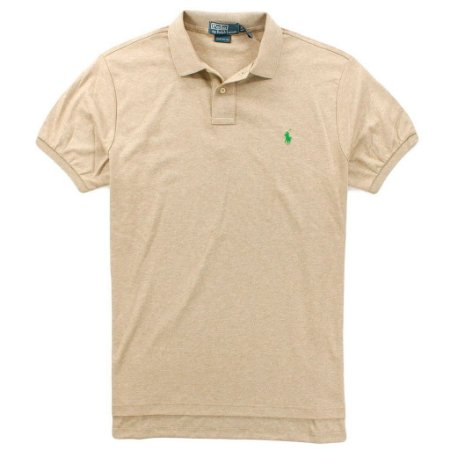Polo Ralph Lauren Masculina Custom Fit Small Pony Polo - Camel Heather