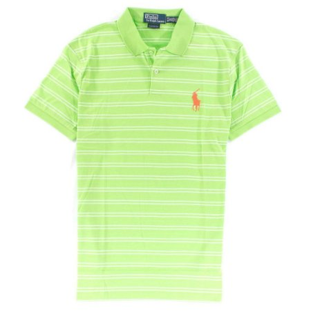 Polo Ralph Lauren Masculina Medium Pony Striped Polo - Lime