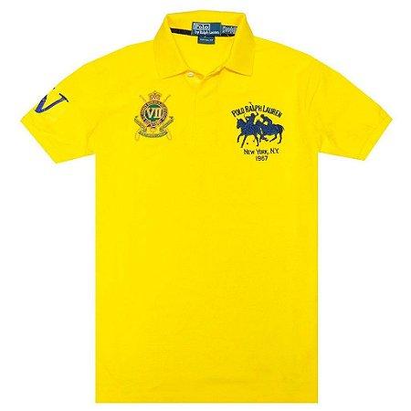 Polo Ralph Lauren Masculina R.L.County Riders & Jockey Club Piquet Polo - Yellow