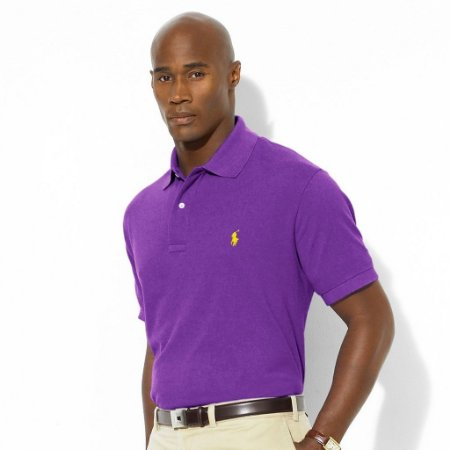 Polo Ralph Lauren Masculina Small Pony Piquet Polo - Ultraviolet