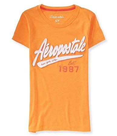Camiseta Aéropostale Feminina NYC 1987 - Orange