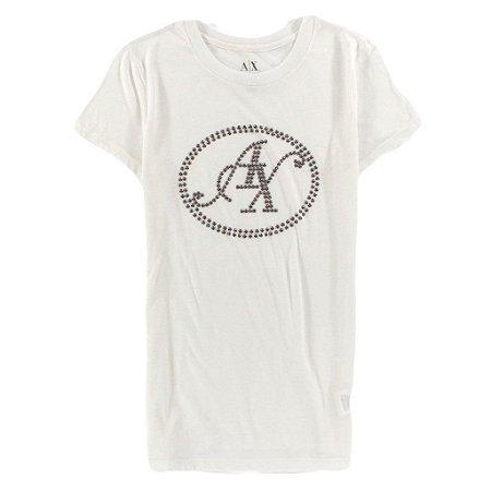 Camiseta Armani Exchange Feminina Greystone - White