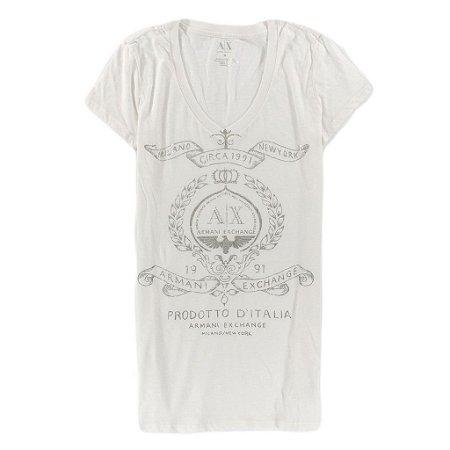 Camiseta Armani Exchange Feminina Circa 1991 Milano NY - White