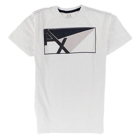 Camiseta Armani Exchange Masculina AX Angles - White