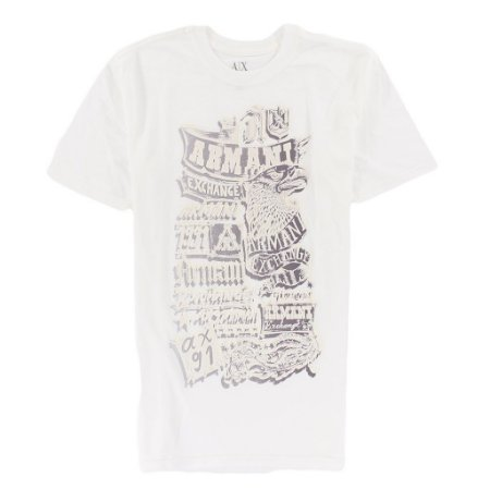 Camiseta Armani Exchange Masculina Western Eagle - White