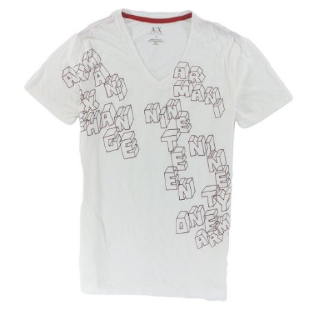 Camiseta Armani Exchange Masculina Cubes - Cream